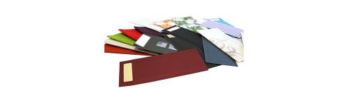 Serveitten farbig 24 cm + Bestecktaschen